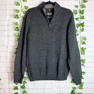 POINT ZERO Half Zip Pullover Sweater